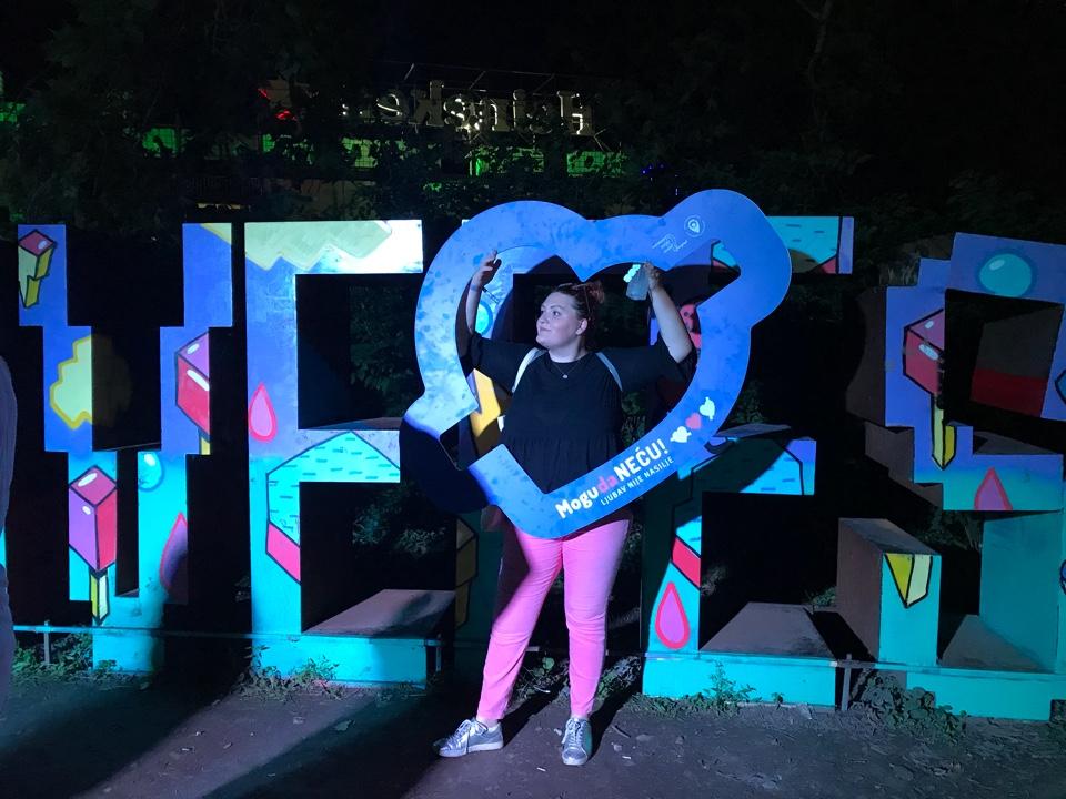 Plavo MDN srce na Love Festu :)